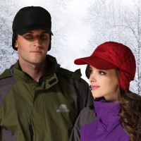 夹棉两用防寒防风帽秋冬户外登山运动跑步帽棒球帽护耳帽