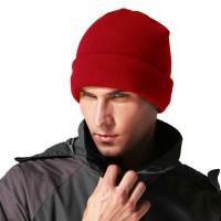 秋冬包头帽针织帽加厚双层保暖套头帽男士户外防风抓绒摇粒绒帽子