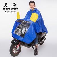 时尚电动车自行车摩托车加厚加长带帽雨衣涤纶布雨披雨衣急救福建
