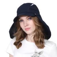 亲子帽两用护颈遮阳帽男女可拆卸披肩透气快干钓鱼帽登山帽儿童帽