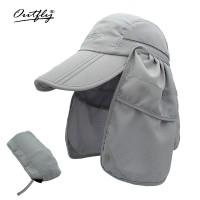 可收纳折叠款护脖渔夫帽日本uv渔夫帽折叠帽户外钓鱼防晒帽