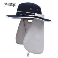防晒舒爽护劲渔夫帽春夏季户外防紫外线圆边帽子旅游帽子女采茶帽