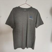 80棉20涤出口库存麻灰圆领大码T恤衫